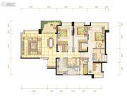 都城雅颂居4室2厅2卫188平方米户型图