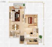 富力东山新天地2室2厅1卫87平方米户型图