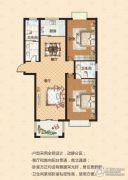 中瓯名城2室2厅2卫123平方米户型图
