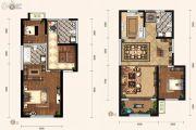 天朗蔚蓝东庭3室2厅3卫99平方米户型图