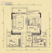 中金城投・九龙湾3室2厅1卫78平方米户型图