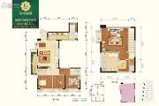北辰朗诗南门绿郡3室2厅2卫147平方米户型图