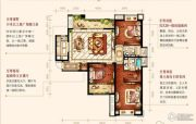 中海琴台华府3室2厅2卫145平方米户型图