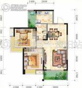 锦亭心街2室2厅1卫86平方米户型图