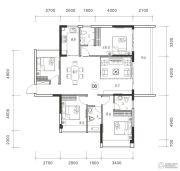 御品豪庭4室2厅3卫143平方米户型图