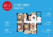碧桂园晚亭印象3室2厅2卫120--128平方米户型图