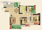 仁美大源印象3室2厅1卫90平方米户型图