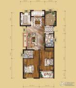 山水华庭3室2厅2卫122平方米户型图