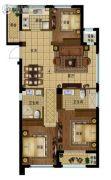 景瑞阳光城法兰公园3室2厅2卫107平方米户型图
