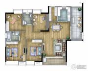 汇丽国际4室2厅2卫0平方米户型图