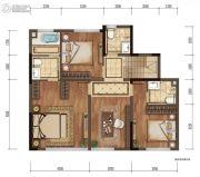 金辉中央�著3室3厅1卫0平方米户型图
