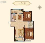 万国园星洲美域2室2厅1卫100平方米户型图