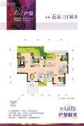 巴黎时光5室3厅2卫128平方米户型图