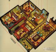 万科中梁・金域中央3室2厅2卫97平方米户型图