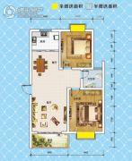 锦绣御珑湾2室2厅1卫87平方米户型图
