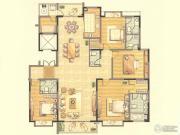 第九园4室3厅5卫244平方米户型图