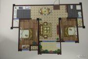 紫荆城 小高层2室2厅1卫83平方米户型图