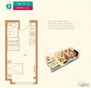 廊坊孔雀城・公园海1室0厅1卫26平方米户型图