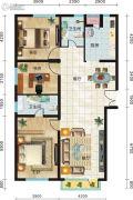 永新华・世界湾3室2厅2卫177平方米户型图