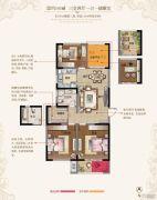 东方现代城3室2厅1卫105平方米户型图