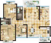 汇美豪庭4室2厅2卫123平方米户型图