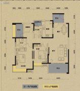 保利国际城翡丽湾3室2厅2卫135平方米户型图