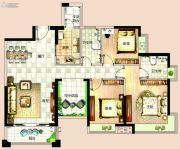 依岸康堤4室2厅2卫123平方米户型图