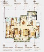 台山碧桂园盛世华府4室2厅3卫180平方米户型图
