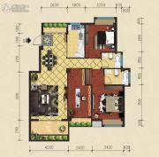 建泓�Z园3室2厅2卫102--103平方米户型图