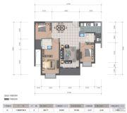 医大广场3室2厅2卫112平方米户型图