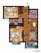 华普城2室2厅1卫87平方米户型图