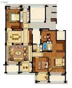 中企艮山府4室2厅2卫166平方米户型图