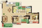 仁美大源印象3室2厅2卫117平方米户型图