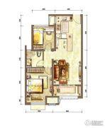 新城香溢紫郡2室2厅1卫70平方米户型图