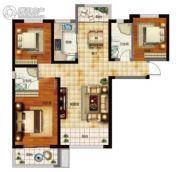 天昱・凤凰城3室2厅2卫128平方米户型图