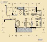 保利香槟国际3室2厅2卫117平方米户型图