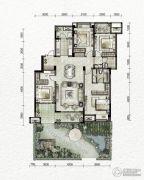 万科金色悦城4室2厅2卫133平方米户型图