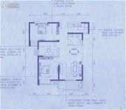 幸福湾3室2厅1卫97平方米户型图