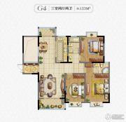 秀逸苏杭3室2厅2卫133平方米户型图