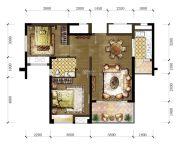 东城温泉里2室2厅1卫88平方米户型图