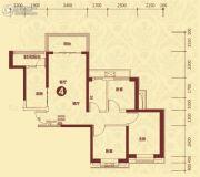 恒大山水城3室2厅1卫97平方米户型图
