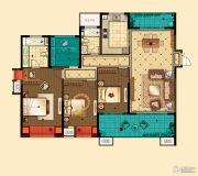 星河国际4室2厅2卫177平方米户型图
