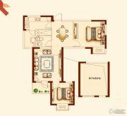 世纪城金域华府2室2厅1卫90平方米户型图