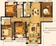 中建・大观天下3室2厅2卫137平方米户型图