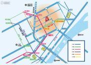 统百中心交通图