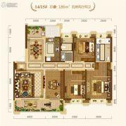 中建・宜昌之星4室2厅2卫186平方米户型图
