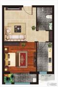 丁豪广场1室1厅1卫60平方米户型图