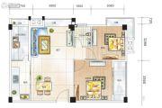 凯润嘉园2室2厅1卫90平方米户型图