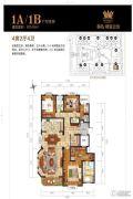 御岛财富公馆4室2厅4卫0平方米户型图