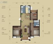 晨凯红树湾3室2厅2卫105平方米户型图
